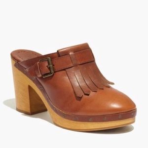 Madewell fringe leather clogs in 8.5